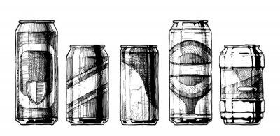 Plakát Sada nápojových plechovek