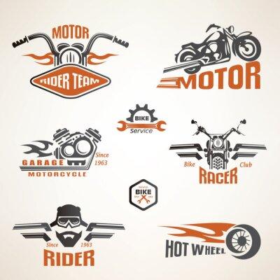 Plakát Sada Vintage Motocyklové štítků, odznaků a designové prvky