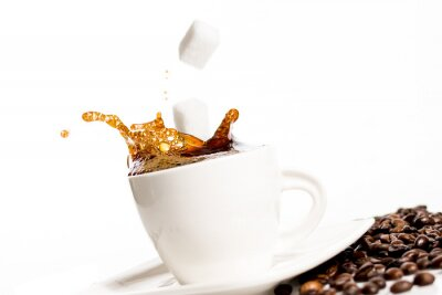 Plakát Šálek kávy šplouchnutí