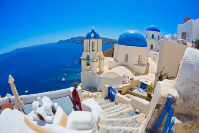 Plakát Santorini, Řecko