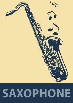 Plakát Saxophone pop
