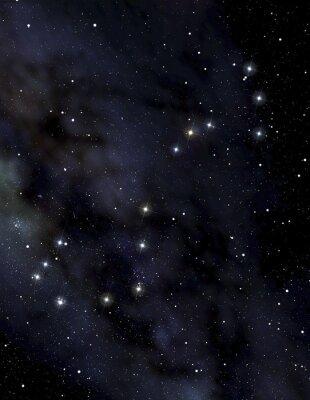 Plakát Scorpion souhvězdí na noční obloze