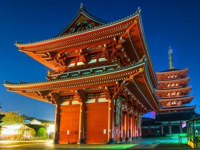 Plakát Senso-ji Temple v Asakusa, Tokio, Japonsko.