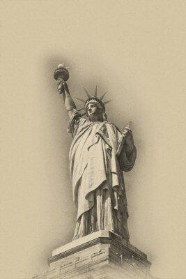 Plakát Sépie tónovaný umělecký obraz Sochy svobody