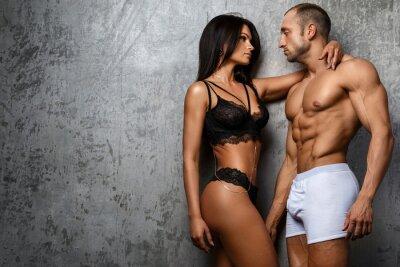 Plakát Sexy pár ve spodním prádle