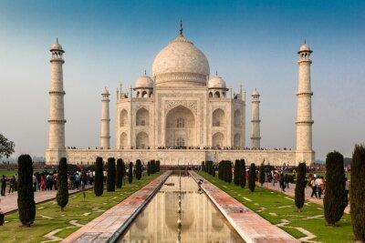 Plakát Seznam světového dědictví UNESCO Taj Mahal, Agra, Rajasthan, Indie