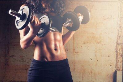 Plakát Silné tělo žena cvičení