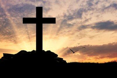 Plakát Silueta kříže