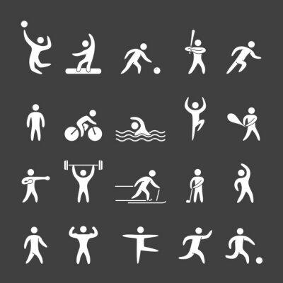 Plakát Silueta postavy atletů populárních sportů