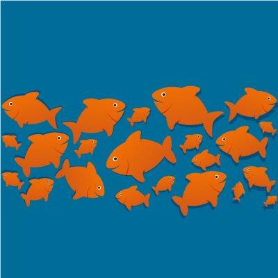 Plakát siluety poissons