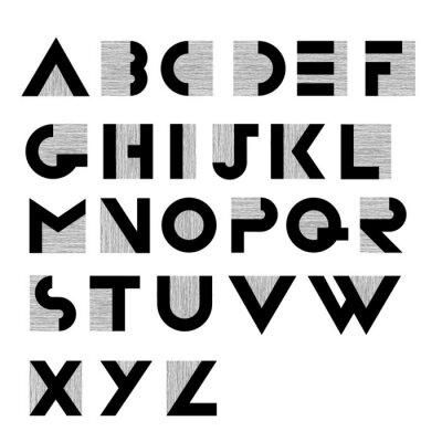 Plakát Široký dekorativní retro abeceda