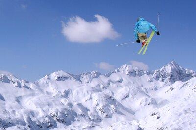 Plakát Skákání lyžař