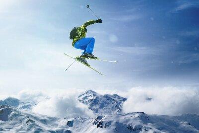 Plakát Skier jumps