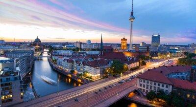 Plakát Skyline Berlin, Blick auf den Alexanderplatz