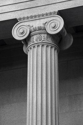 Plakát sloupec architektonický detail a symboliku
