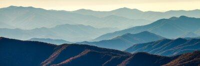 Plakát Smoky Mountain hřebeny