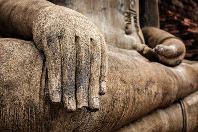 Plakát Socha Buddhy ruka zblízka detail