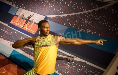 Plakát Socha Usain Bolt v Madame Tussauds v Londýně, 2012