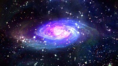 Plakát space modré galaxie ve vesmíru.