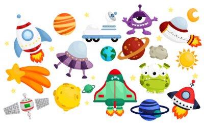 Plakát space vector set - no pozadí