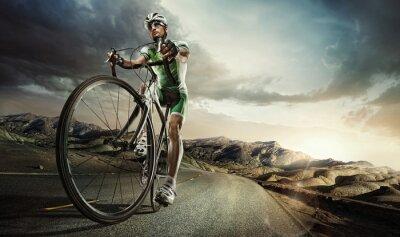 Plakát Sport. Silniční cyklista
