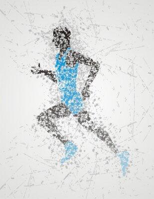 Plakát sportovec konstrukce