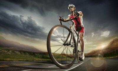 Plakát Sports. Silniční cyklista.