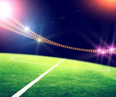 Plakát stadion v světly a záblesky