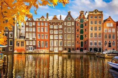 Plakát Staré budovy v Amsterdamu