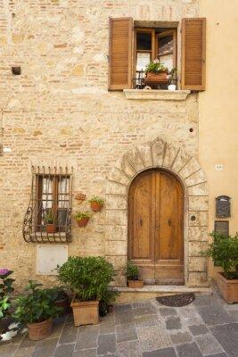 Plakát Staré město Montepulciano v Toskánsku