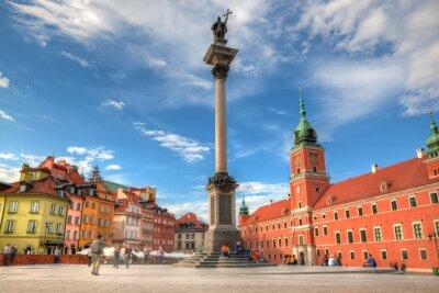 Plakát Staré město ve Varšavě, Polsko