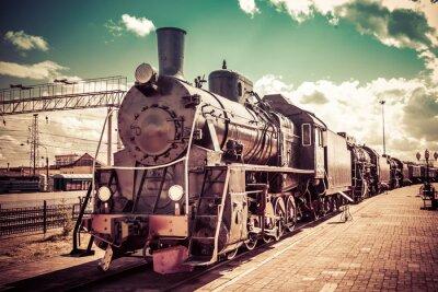 Plakát Staré parní lokomotiva, historickým vlakem.