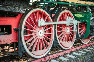 Plakát staré parní lokomotivy z 20. století