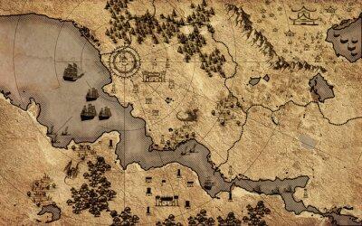 Plakát Staré vinobraní fantasy mapa