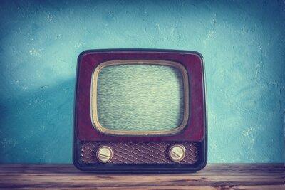 Plakát Staré vintage TV s dřevěném pouzdře