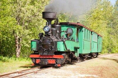 Plakát Staré vlak parní stroj