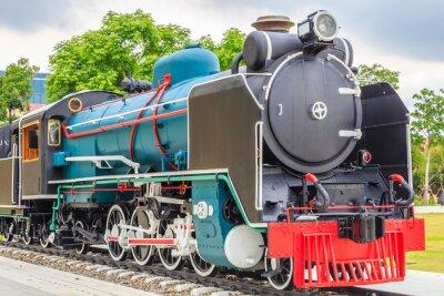 Plakát Starý vlak vintage styl.