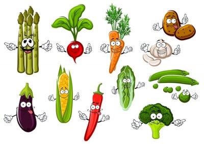 Plakát Šťastný farma zelenina Kreslené postavičky