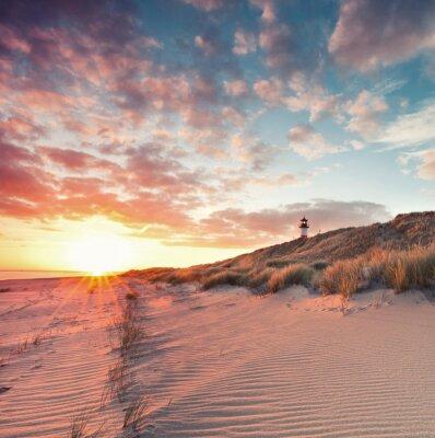 Plakát Strand und Dünenlandschaft am Sylter Ellenbogen