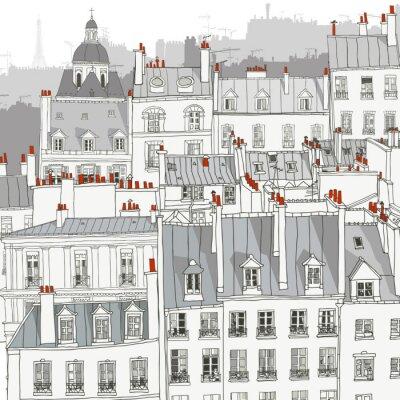 Plakát Střechy Paříže