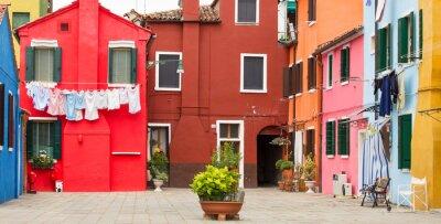 Plakát Středomořské architektury v Burano, Itálie