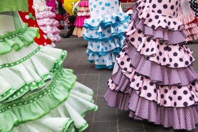 Plakát sukně španělské flamenco tanečnice