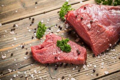 Plakát Surový hovězí maso