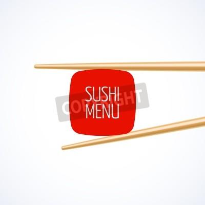 Plakát Sushi kryt menu template