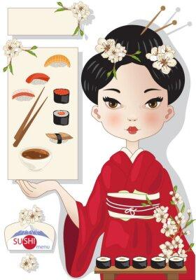 Plakát Sushi menu