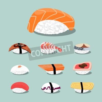 Plakát Sushi set icon