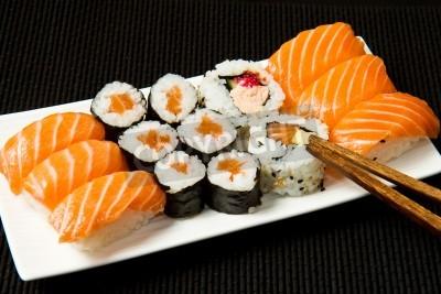 Plakát Sushi Set nad černou