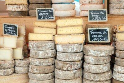 Plakát Sýr Farmer na pult na trhu