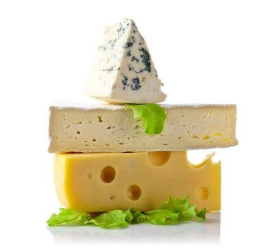 Plakát sýr na bílém
