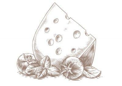 Plakát Sýr se zeleninou